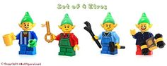 LEGO Holiday Christmas MiniFigure Set of 4 Holiday Elves w Accessories * See this great product.
