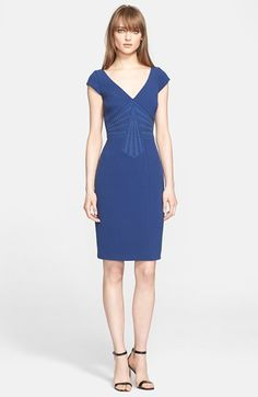Free shipping and returns on Versace Collection Studded Sheath Dress at Nordstrom.com. Silvertone studs, molded fabric and strategic seaming combine to visually cinch the waistline of a flattering, cap-sleeve sheath dress.