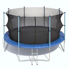 XXL Trampolin Gartentrampolin Komplettset mit Netz innenliegend, Leiter, 4,30m