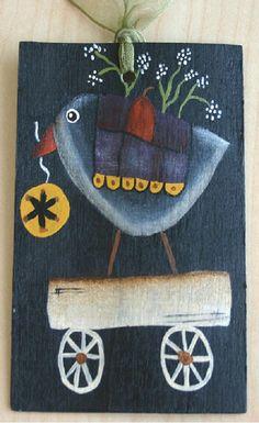 Crow Hang Tag Halloween