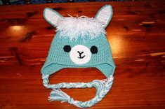 The Crafty Flutist: Llama / Alpaca hat- Free Crochet Pattern
