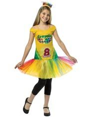 "Crayon Box Girls Costume - Add a little ""color"" to your girl's life with this cute and unique Crayola crayon costume!"