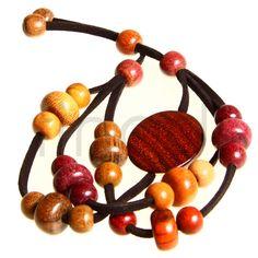 Armband Holzschmuck aus verschiedenen Hölzern, naturbelassen und handgefertigt