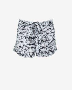 Tie Waist Graphic Print Shorts