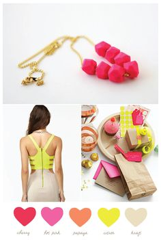 Neon + neutral from The Sweetest Occasion