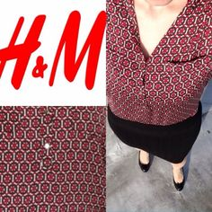 Geometric silk blouse H&M Elegant silk blouse from H&M in excellent condition. Worn once. H&M Tops Blouses
