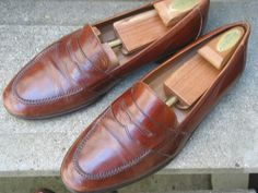 HAROLD'S Used Tan Leather Dress Loafers 10.5 M