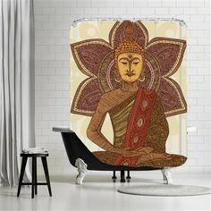 Valentina Ramos - Sitting buddha, Shower Curtain, 180x180