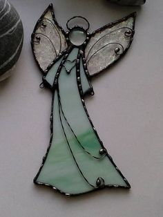 Stained glass Angel. Hanging suncatcher. Christmas angel.