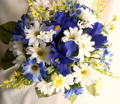 blue and yellow wedding flowers - Google Search