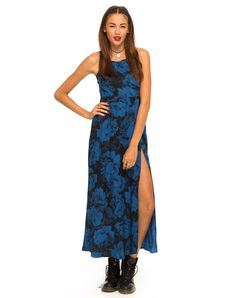 Motel Sia Strappy Maxi Dress in Tonal Floral Midnight, TopShop, ASOS, House of Fraser, Nasty gal
