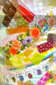 masking tape collage* Mt Washi Tape, Masking Tape, Collage, Tableware, Fun, Decor, Duct Tape, Collages, Dinnerware