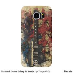 Flashback Guitar Galaxy Barely There Case Samsung Galaxy Cases, Iphone Cases, Customized Phone Covers, Guitar, Monogram, Feminine, Floral, Women's, Personalised Phone Covers