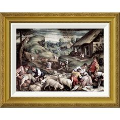 Global Gallery 'Summer' by Francesco Bassano II Framed Painting Print Size: