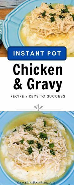Chicken Rice And Gravy, Chicken Mashed Potatoes, Chicken Rice Recipes, One Pot Chicken, Chicken Tender Recipes, Ip Chicken, Baked Chicken, Best Instant Pot Recipe, Instant Pot Dinner Recipes