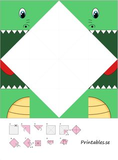 Cootie catcher: cocodrilo - Welcome to ideas de juegos para niños ! Halloween Crafts For Kids, Diy Halloween Decorations, Diy Crafts For Kids, Origami Usa, Diy Origami, Cool Paper Crafts, Paper Crafts Origami, Art Drawings For Kids, Art For Kids