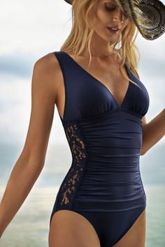 Tommy Bahama, Lace Ahoy V-neck One-Piece, $142, Town Square Las Vegas