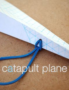 Hello peeps. Check out this catapult paper airplane. It's a goodie, and a quickie (hurrah!), and kept my very determined son quite busy today! The idea comes from The Usborne Big Book of Science Things to Make and Do which we currently have out from the library.