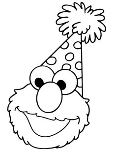 Free Printable Elmo Coloring Pages For Kids   Digital Stamps ...