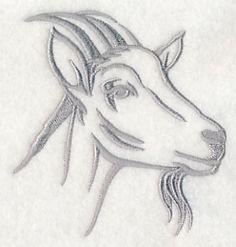 Farm Silhouette Goat 2