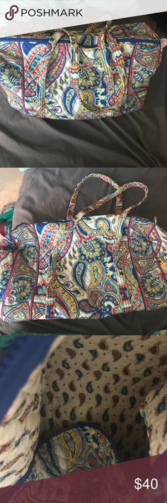 Vera Bradley duffel Marina Paisley Great condition! Holds a ton of stuff. Only used a few times, no stains or tears. Vera Bradley Bags Travel Bags