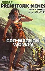 Aurora Prehistoric Scenes Cro-Magnon Woman kit
