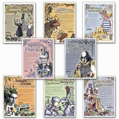 Famous Author Mini Educational Laminated Poster Series. English Literature Art Prints. Featuring: Toni Morrision, Sylvia Plath, Emily Dickinson, Edgar Allan Poe, J.D. Salinger, William Shakespeare, more Teacher's Discovery http://www.amazon.com/dp/B002ET4Z9M/ref=cm_sw_r_pi_dp_gP.4vb0BWM2ST