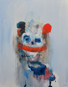 Joram Roukes, 'red, white, and blue' ....Joram's work is all at once disturbing and compelling (I can't stop looking)