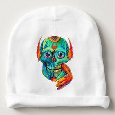 #funny - #skull baby beanie