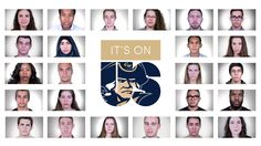Students at George Washington University take the #ItsOnUs pledge.