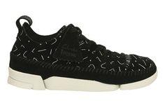 Clarks Trigenic Flex. - Black/White - Womens Originals Shoes | Clarks