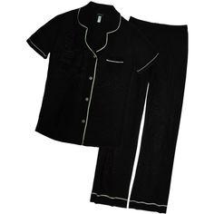 Cosabella Bella Short Sleeve & Pants Pj Set (384345601) ($133) ❤ liked on Polyvore featuring intimates, sleepwear, pajamas, cosabella pajamas, short sleeve pajama set, cosabella pjs, button up pajamas and cosabella sleepwear