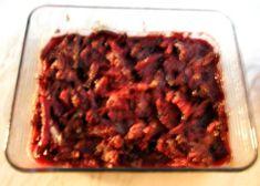 punajuuri-soijakiusaus Meatloaf, Beef, Food, Meat, Meat Loaf, Eten, Ox, Ground Beef, Meals