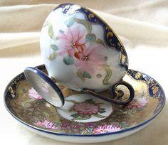19th Century Antique Japanese Porcelain Tea Service For 4 | by Le Petit Poulailler