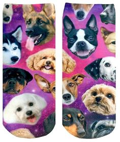 Mens athletic low cut Ankle sock Funny French Bulldog Head Short Fit Sock