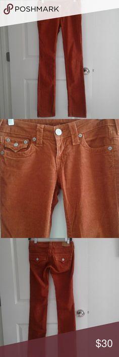 f7ff257824301f True Religion Corduroy Jeans sz 24 Skinny No holes tears stains Waist 14