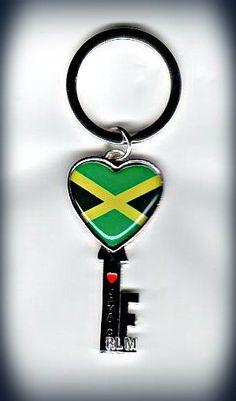 """Reggae Land Muzik Store - Jamaica Flag - """"KEY"""" : Keychain , $5.98 (http://www.reggaelandmuzik.com/jamaica-flag-key-keychain/)"""