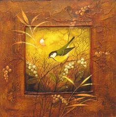 jitka gavendová The birds in the bush Birds, Friends, Painting, Art, Art Background, Amigos, Bird, Boyfriends, Painting Art