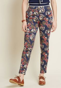 Sassy and Structured Pants in Butterflies