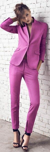 The color Radiant Orchid is on many fashionista's must-have list!