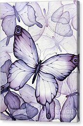 Purple Butterflies Canvas Print by Christina Meeusen
