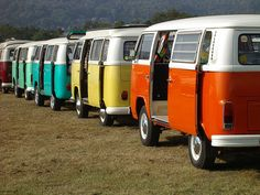 candy colored vw vans