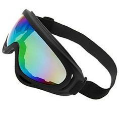 Skiing Snowboard Goggle Anti-Snow Chrome Tinted Lens - Black by uxcell. $7.70. Tinted lens, black shiny plastic frame. Black lens frame; Chrome tinted lens against snow color; Hydrophilic anti-fog coating; Adjustable head strap; Dual spherical lens design; Helmet compatible;