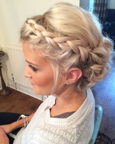 Wedding hair Priory cottages Bridal updo Plait plaits braid braids Bridemaids