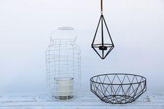 """Última tendencia en decoración: formas geométricas en metal. Lámparas, cestas y todo tipo de adornos minimalistas. El """"glamour de la elegancia industrial"""" Lo encontrarás en nuestras tiendas #rocasa"""