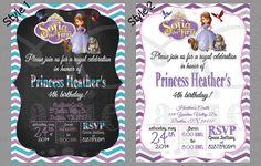 Printable 5x7 Birthday Sofia the First Invitation  YOU by MCPapier, $8.00