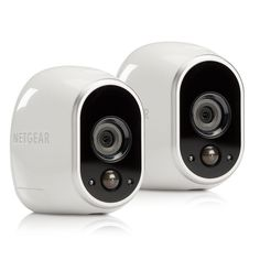 Netgear Arlo Smart Home Indoor Outdoor Wireless HD Security Camera System, White