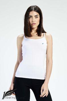 Camiseta de tirantes finos blanca