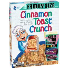 Real Cinnamon, Whole Grain Foods, Crunch Cereal, Cinnamon Toast Crunch, General Mills, Gram Of Sugar, Breakfast Cereal, Corn Syrup, Target