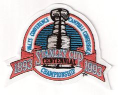 1993 Stanley Cup Final Championship Centennial Jersey Patch (English Version) Los Angeles Kings vs. Montreal Canadiens